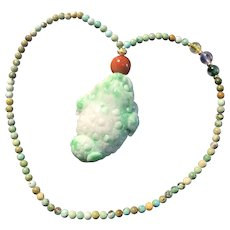 Natural Jade Lucky Frog Handle