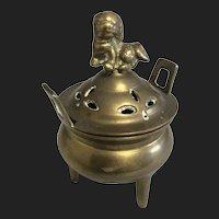 Vintage Brass Lion Top Censer
