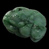 Genuine Jadeite Jade 3D Lucky Frog Pendant