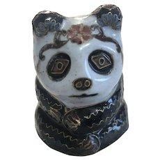 Lovely Vintage Cloisonne Panda Decoration