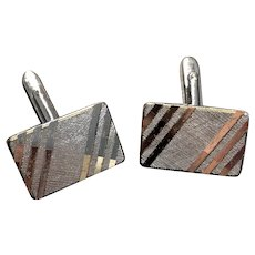 Vintage Germany Silver Tone Cufflinks