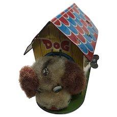 Vintage Iron Sheet Dog House Toy