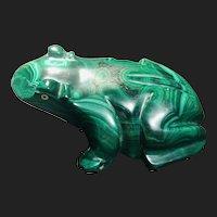 Vintage Malachite Frog Decoration