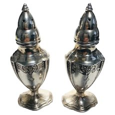 Pair of Vintage Silver Plated Condiment bottles