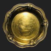 Vintage Brass Floral Plate