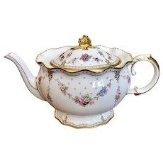 Royal Crown Derby Antoinette large teapot 1st quality  Perfect condition