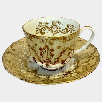 A rare cup & saucer by Hilditch & Hopwood