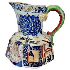 Early 19th C Davenport hydra imari pitcher Ironstone china c1805-1820