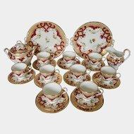 Early 19th century Minton 24 pieces part tea service, pattern C954