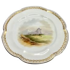 Beautiful quality cabinet/dessert  plate possibly Coalport with impressed mark