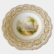 19th century English scene comport/tazza possibly Davenport pattern 1190