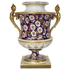 A Flight Barr and Barr of Worcester Vase c1820 (17.5cm High)