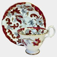 Samuel Alcock Rococo coffee cup & saucer pattern 7164