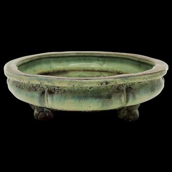 A Chinese Porcelain Republic Period Flambé Tripod Incense Burner
