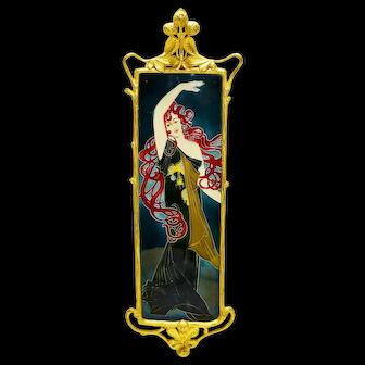 Carl Sigmund Luber (1868-1934) - An Antique Art Nouveau Majolica Wall Plaque