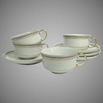 Antique Zeh Scherzer & Co (Z. S. & Co) ATHENS' Cups & Saucers
