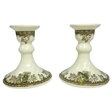 Johnson Brothers FRIENDLY VILLAGE Candlesticks