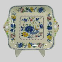 Vintage Mason's Square Cake Sandwich Plate