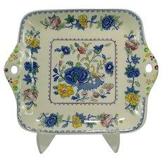 Vintage Mason's Square Cake/Sandwich Plate