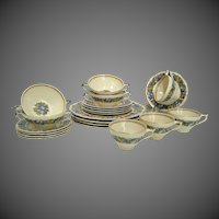 4 Sets Crown Ducal FLORENTINE 1954  6pc Placesettings