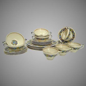 Vintage Crown Ducal Florentine '1954' Placesettings 4/Sets