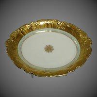 Antique Blakeman & Henderson Limoges France Gilded Serving Dish