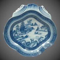 Mottahedeh Vista Alegre 'Blue Canton' HC121 Shell Dish