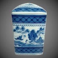 Mottahedeh Vista Alegre 'Blue Canton' Square Box w/Lid