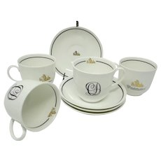 Dept 56 Heritage Collection 'Charles Dickens' Fine Bone China Cup and Saucer Set of 4