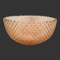 Vintage 'Miss America Pink' Strawberry Diamond Point Fruit Bowl by Anchor Hocking