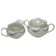 "Noritake ""M"" Nippon - 'The Dartmoor' - Large Cream & Covered Sugar Set"