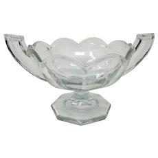 Vintage Heisey Art Deco Style Trophy Handled Fruit Bowl Centerpiece