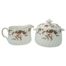 Vintage Minton 'Ancestral' Cream & Covered Sugar Set