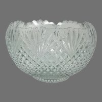 Vintage L. E. Smith Glass Large EAPG 'Pineapple' Punch Bowl