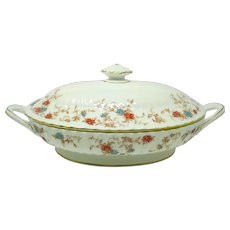 Vintage Minton 'Ancestral' Oval Covered Vegetable Dish