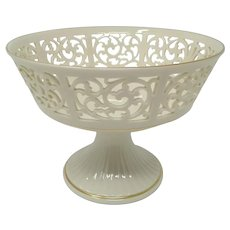 Lenox Tracery Collection 'Victorian' Pierced Footed Centerpiece Fruit Bowl