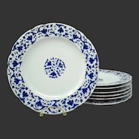 19th Century Fischer & Mieg Hand Painted Plates