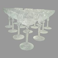 Gorgeous Rogaska Crystal Tall Coupe Champagne Glasses - Set of 13