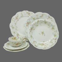 Antique French Haviland & Co. Limoges 'The Princess' 6-Pc Placesetting