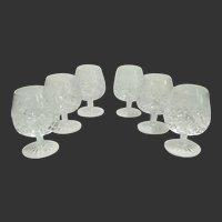Gorgeous Rogaska 'Gallia' Crystal Brandy Glasses -Set of 6