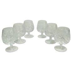 Vintage Rogaska 'Gallia' Crystal Brandy Glasses -Set of 6