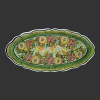 "Skyros Italian HP Pottery ""POMEGRANATE"" Oval Fish Serving Platter"