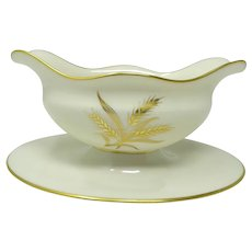 Early Lenox WESTFIELD Gravy Boat w/Attached Underplate