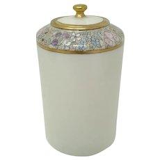 Antique Lenox Belleek HP Enameled Tea Caddy ~ Jar