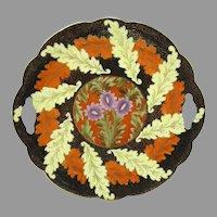 Antique Nervi Austria Hand Painted Art Nouveau Cake Plate