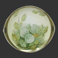 Rosenthal HP Snowball Hydrangeas Serving Plate Artist Signed