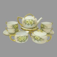 Early 1900's Hand Painted Tea Service ~ Yellow Floral ~ Artist Signed