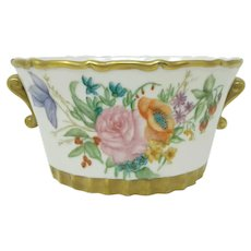Hand Painted Floral Cache Pot