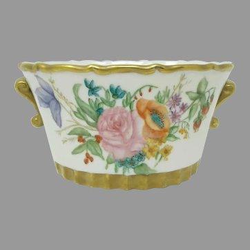 Hand Painted Floral Cache Pot