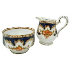 Royal Albert ROYALTY Enameled Milk (Cream) Jug & Sugar Bowl Set